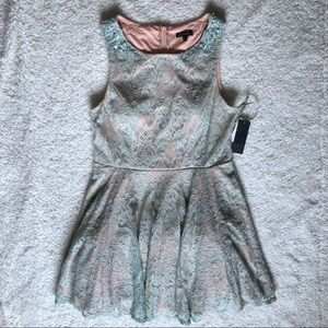 NWT Jodi Kristopher Sage Green Lace Dress 17